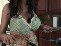 Sexy MILF cooking naked