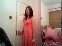 Cute brunette amateur in her private video sextape
