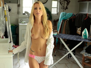 Blonde model Hailey cheats on her man