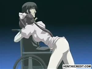 Bound hentai nurse gives head