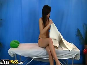 Sexy teen fingered at erotic massage