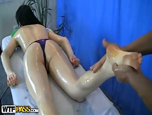 Anal sex massage with beautiful girl