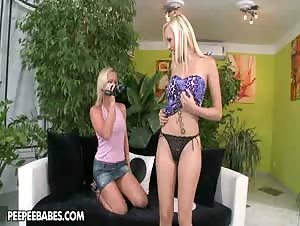Bianca Golden and Kathia Nobili indulge in some hot nipple and clit licking