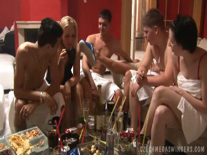 Real Czech amateurs at this enormous swingers party - 10