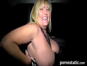 Blond slut mom sucking