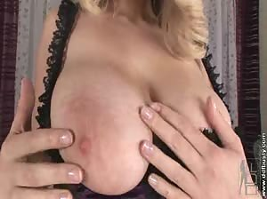 Big tits blond babe Barbara