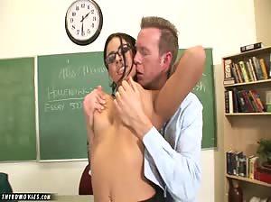 Eva Angelina is perfect as the naughty teacher