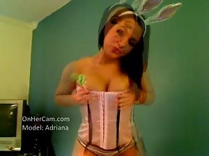 Adriana makes one sexy bunny