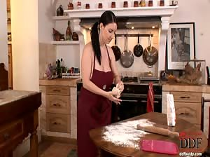 Katerina Hart in the kitchen