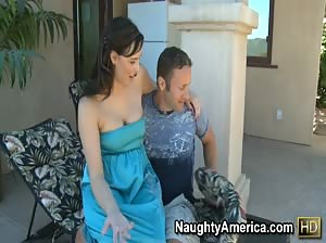 Brooke Lee Adams bounces her big ass on her neighbor`s big cock