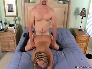 Very hot german bed fuck session