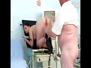 Rachel gyno speculum explicit kinky gyno exam by old doctor