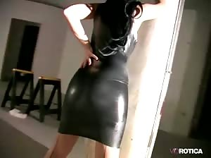 Violet Gets Naughty In Black Latex